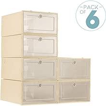ZODDLE Foldable Shoe Storage Boxes-6 Pack