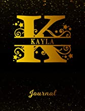 Kayla Journal: Letter K Personalized First Name Personal Writing Diary   Black Gold Glittery Space Effect Cover   Daily Diaries for Journalists & ... Taking   Write about your Life & Interests