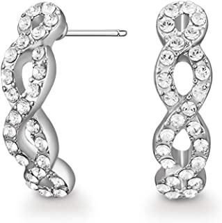 Mestige Women Glass Savannah Earrings with Swarovski Crystals