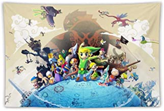 Athena Carroll Tapestries,Wall Art, Wall Decoration/Poster,The Legend of Zelda Wind Waker Link, for Bedroom Living Room Dorm, Picnic Mat,200x150