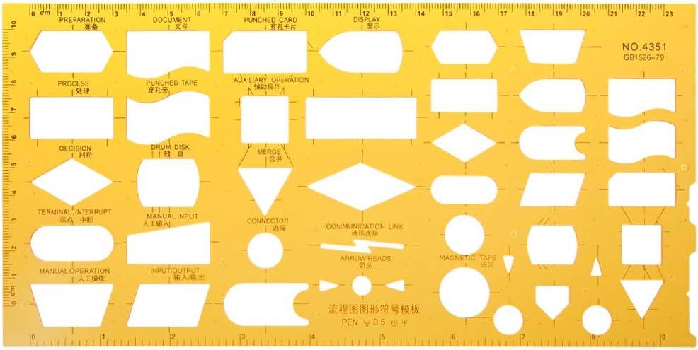 Regla geométrica Normográfica Organigrama Herramienta de medición de dibujo Regla de medir