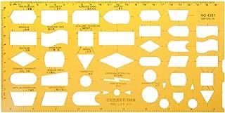 Oranmay K Resin Flow Chart Symbol Drafting Template Ruler Stencil Measuring Tool Student