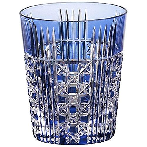 江戸切子 ロックグラス 五本溝に四角籠目紋 T557-2471-CCB