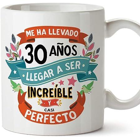 """MUGFFINS Taza 30 Cumpleaños -""""Me ha llevado 30 años llegar a ser increíble y casi perfecto - Regalos Desayuno Feliz Cumpleaños"""