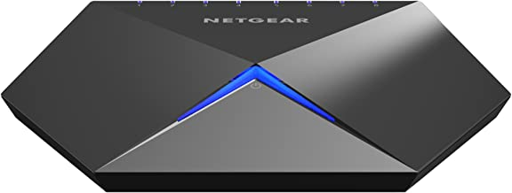 NETGEAR Nighthawk S8000 8-Port Gigabit Smart Managed Plus Gaming Switch (GS808E) - Low Latency for Responsive Streaming, Cool-touch Zinc-alloy Desktop Housing, Fanless for Quiet Operation