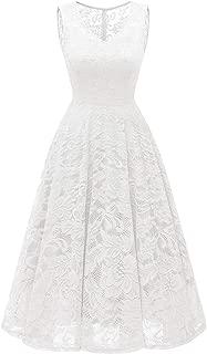 Women's Cocktail V-Neck Dress Floral Lace Handkerchief Hem Asymmetrical Homecoming Dress