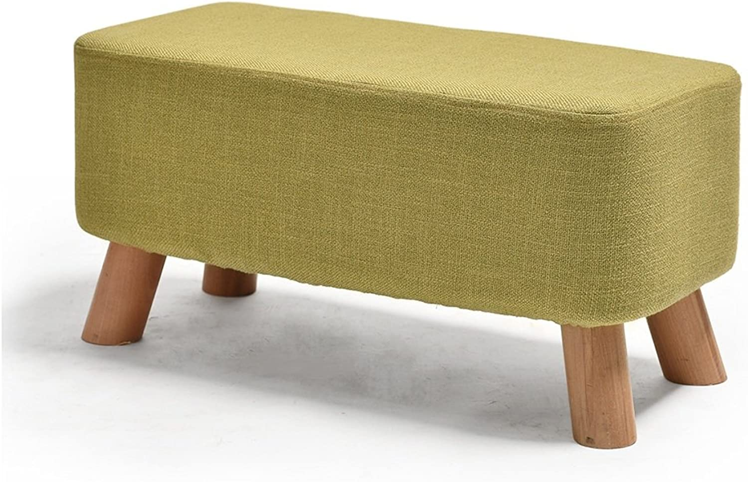 LJHA ertongcanyi Creative Cloth Footstool Changing His shoes Stool Bench Solid Wood Sofa Stool (6 Sizes Optional) (color   C, Size   57  29cm)