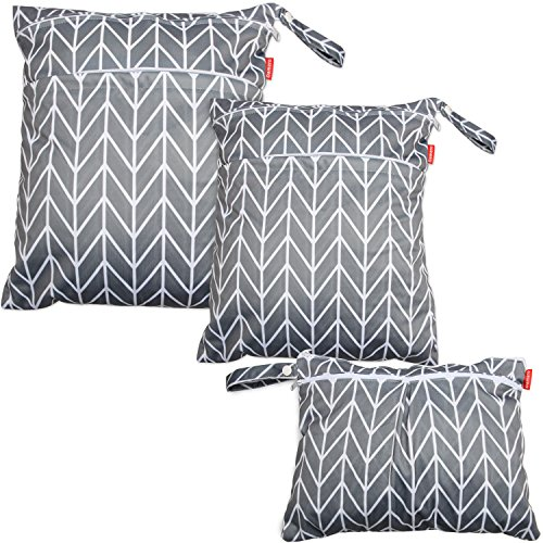 Damero 3pcs Sacchetto del pannolino lavabile, Grey Arrow