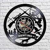 wtnhz Reloj de Pared con Disco de Vinilo LED Reloj de Vinilo de 12' Movimiento de Cuarzo decoración de la Vida hogareña