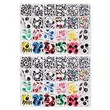 Rubywoo&chili - Ojos móviles (3000 unidades, autoadhesivos, para manualidades, scrapbooking, manualidades, juguetes, 5 tamaños)