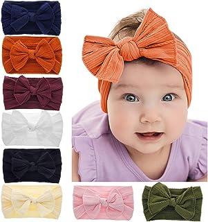 Tolyneil Baby Headband Blue Rabbit Ear Baby Girl Headband Elastic Headband for Girls Baby Toddlers Little Girls Photo Props