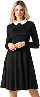 Best black fit and flare dress long sleeve Reviews