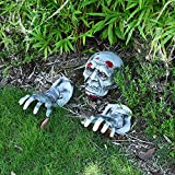 YoleShy Zombie Face and Arms Lawn Stakes Halloween Decorations, Scary Skeleton for Best Halloween, Halloween Scary Indoor and Outdoor Decorations