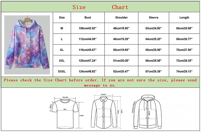Men's Novelty Hoodies Sweatshirts Lightweight 3D Tie Dye Fashion Hooded Casual Crewneck Pullover Casual Sport Running
