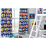 Ready Steady Bed Road Signs Design Children's Bedroom Curtains 66'x 54' with Tie Backs