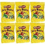 Bassetts Jelly Babies 190g (6.78oz) Bag (Pack of 6)