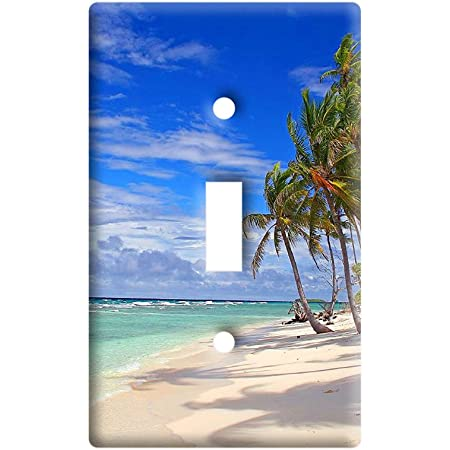Tropical Beach Island Sky Clouds Vacation Plastic Wall Decor Toggle Light Switch Plate Cover Amazon Com