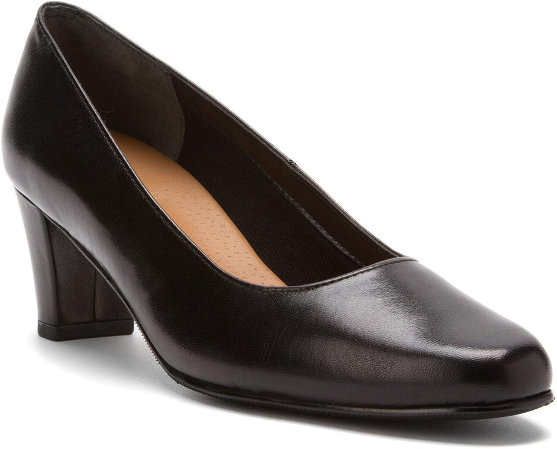 Mark Lemp Classics Women's Best Black Kid Heels 8.5 N