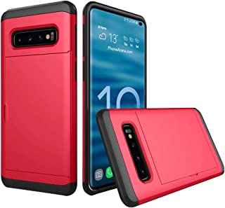 Case Cover Compatible for Samsung Galaxy S10s/S10 plus/10e {6.1/6.4/5.8inch},Guesthome Hard PC+Silica Gel Case Samsung Galaxy Newest,Card Holder Cover Non-Slip