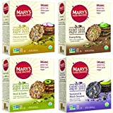 Mary's Gone Crackers Super Seed 4 Flavor Variety Pack (5.5 Ounce each 4 Pack)