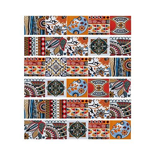 S-TROUBLE 6 uds, Pegatinas Coloridas para Suelo de baldosas, escaleras, baño, Cocina, decoración, Adhesivo Impermeable para Pared, Adhesivo artístico para Pared, Papel Tapiz