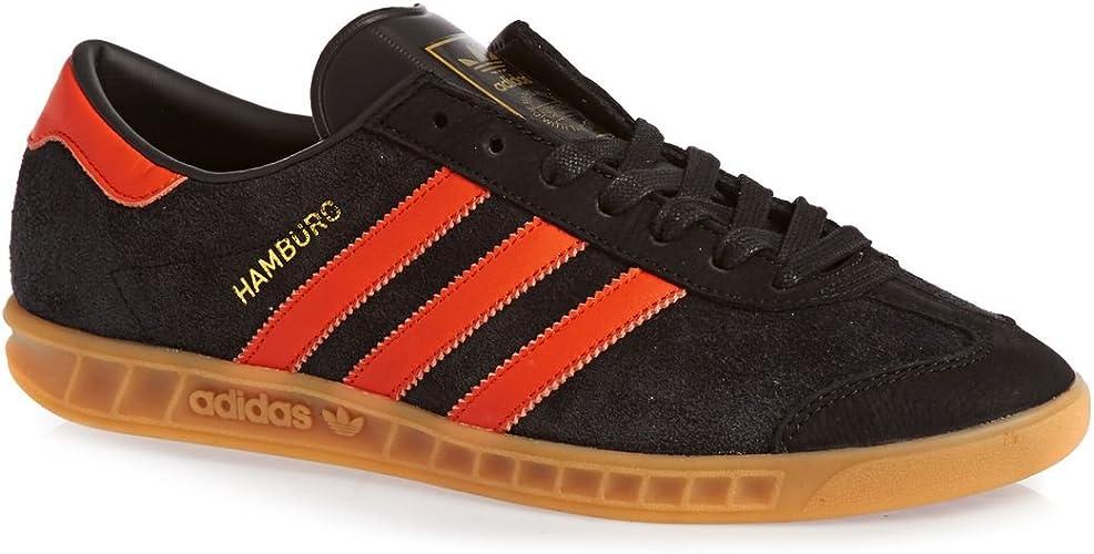 Chaussures Hamburg Adidas Originals - Noir Core/Orange collegiate ...