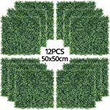 <span class='highlight'><span class='highlight'>Yaheetech</span></span> 50x50cm Artificial Boxwood Decorative Fences Topiary Plastic Panel Ivy Screening Hedge Fence for Home Decoration Garden Oranments Indoor & Outdoor Green 12 Pcs