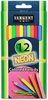 Sargent Art (SARAD) 22-7241 12ct Neon Pencils, Drawing, Coloring, Artist, Assorted