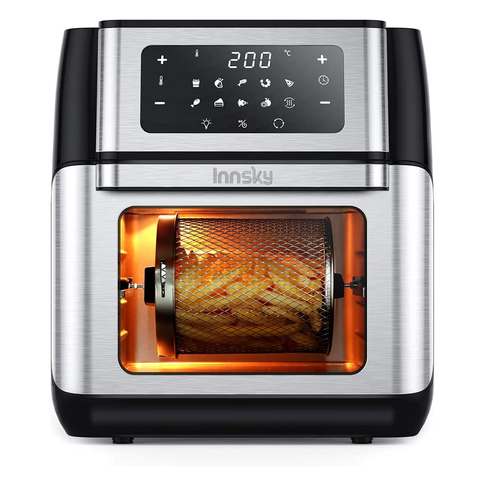 Innsky friggitrice ad aria 10l con touch screen a led digitale da 1500w