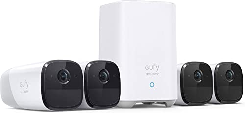 wholesale eufy Security, eufyCam outlet online sale 2 popular Pro Wireless Home Security Camera System, 4-Cam Kit, HomeKit Compatibility, 2K Resolution, 365-Day Battery Life, No Monthly Fee outlet online sale