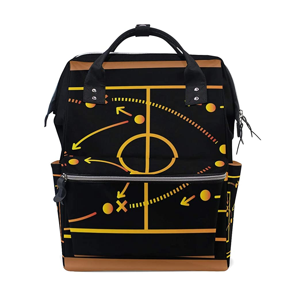 Basketball Game Strategy Map School Backpack Large Capacity Mummy Bags Laptop Handbag Casual Travel Rucksack Satchel For Women Men Adult Teen Children