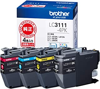 【brother純正】インクカートリッジ4色パック LC3111-4PK 対応型番:DCP-J982N、DCP-J978N、DCP-J582N、DCP-J577N、MFC-J738DN 他