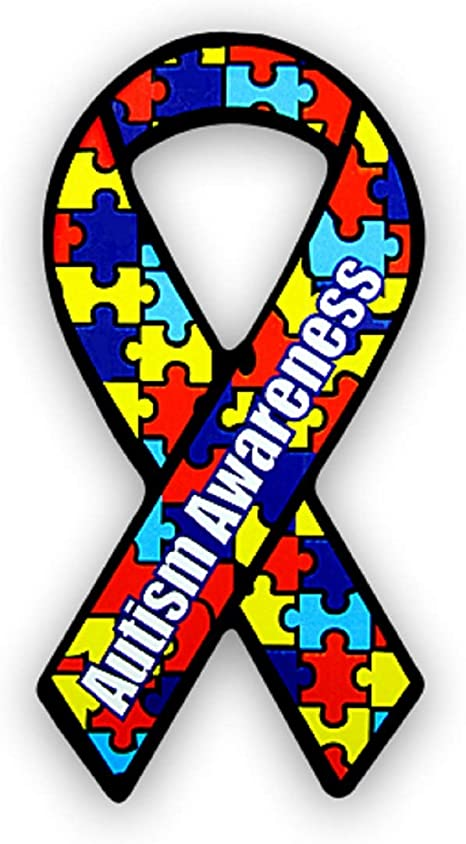 Amazon Com Fundraising For A Cause Large Autism Ribbon Car Magnets Asperger S Autism Awareness Puzzle Magnets 24 Magnets Refrigerator Magnets Kitchen Dining