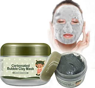 Carbonated Bubble Clay Mask,INST Bubbles Origin Beauty Black Mud Mask,Moisturize Deep Cleansing Face Mask 3.52 oz