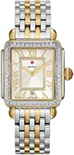 Michele Deco Madison One Hundred Fifty Five Diamonds Silver Dial Two Tone Women's Watch MWW06T000144