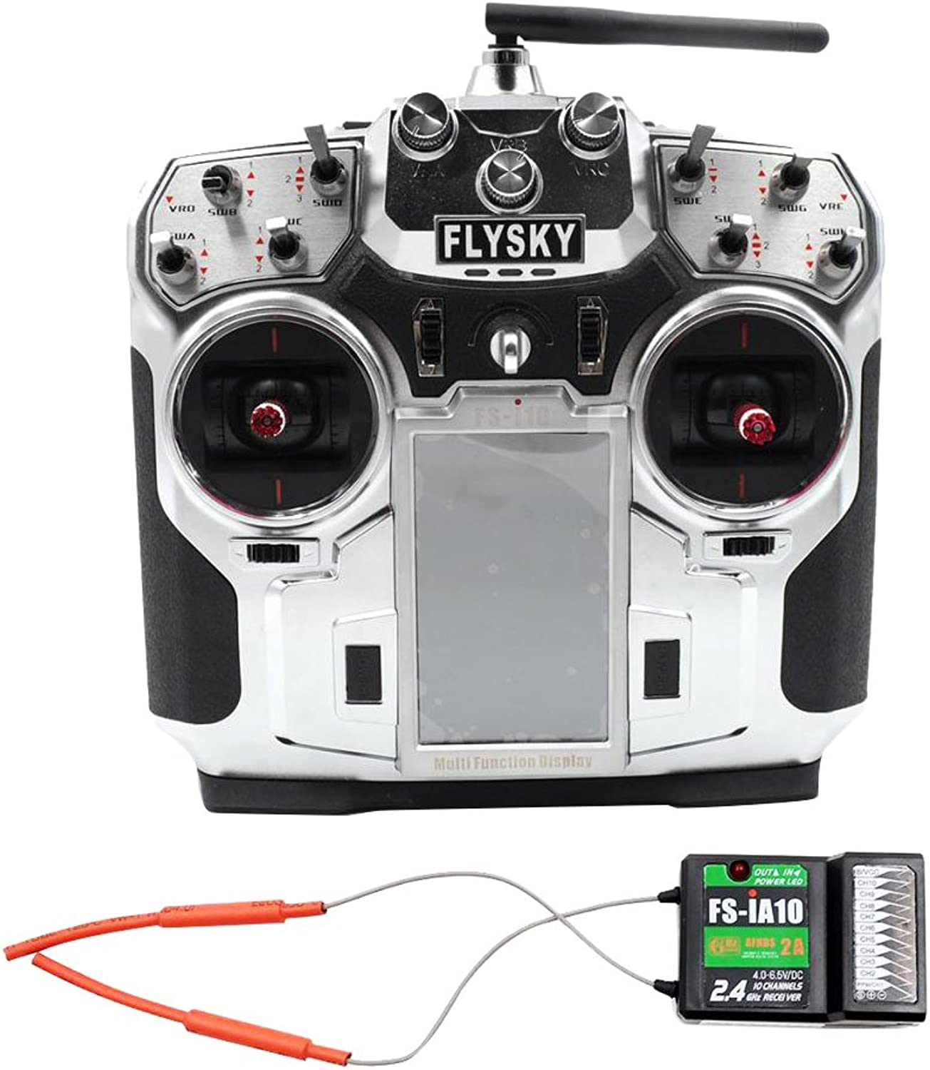 Homyl Flysky FS-I10 10-channel 2.4ghz Remote Radio Transmitter w FS-iA10B Receiver
