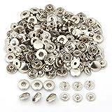 fitTek 50X Set Botones de Presión Cierre Metal Fornituras para Pulsera