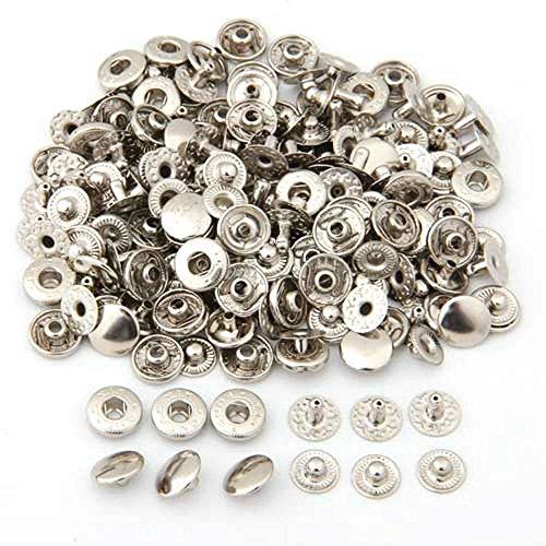 Bottoni a pressione di metallo 10 mm non per cucito - 50 pezzi