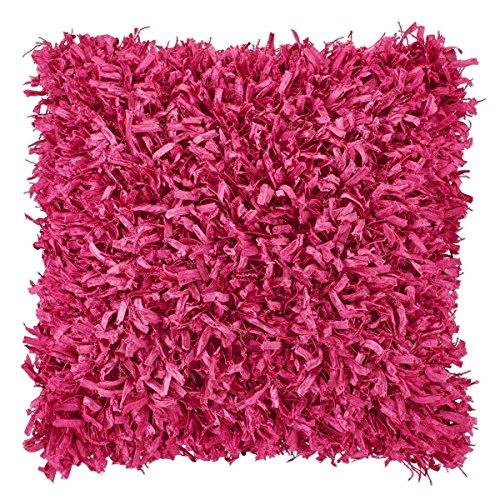 Dutch Decor Dekokissen 45x45 cm Violett mit Füllung - Shannon - Zierkissen Quadratisch Kissen deko 70% Polyester - 30% Baumwolle - Fuchsia