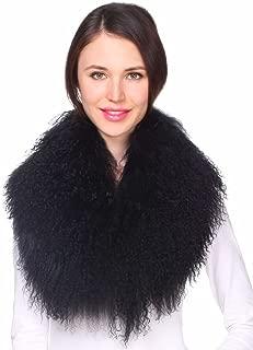 mongolian fur collar uk