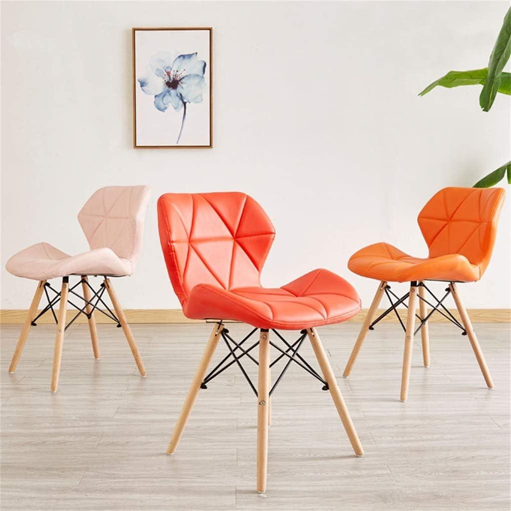 Chaise de Salle à Manger de Style Moderne assemblée, Chaise Longue en Cuir PU pour Cuisine, Salle à Manger, chaises de Salon (9 Couleurs) Black