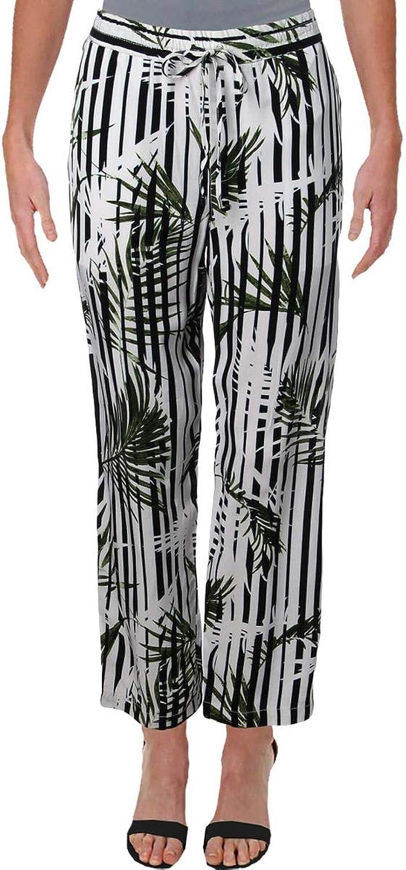 Lauren Ralph Lauren Womens Saarah Printed Crop Skinny Pants White 12
