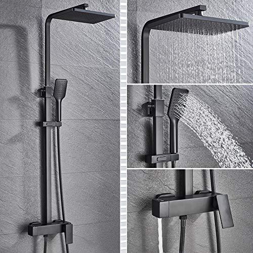 Wieoc Black Rain Doccia Doccia Vasca da bagno rubinetto da bagno per vasca da bagno doccia miscelatore pilota doccia rubinetto doccia set miscelatore