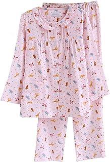 レディースパジャマ 綿 花柄 長袖 上下セット ガーゼ 100% 綿 春 夏 秋用 部屋着 長袖 通気 寝間着
