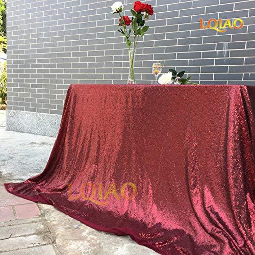 WJDHSG tafelkleed 18 kleuren 225cmX330cm Glitter Zilver Pailletten Tafelkleed 90x132 inches Bruiloft Tafelkleed Decoratie Rechthoek Pailletten Tafelkleed