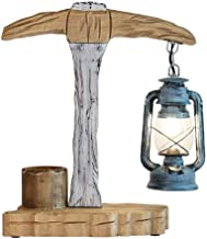 A-Lnice Rustic Table Lamp Chic Wooden Desk Lamp for Living Room Family Bedroom Nightstand Creativity Table Lamp