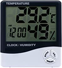 KINZILLA High accuracy LCD Digital Thermometer Hygrometer Weather Station Indoor Electronic Temperature Humidity Meter Clock