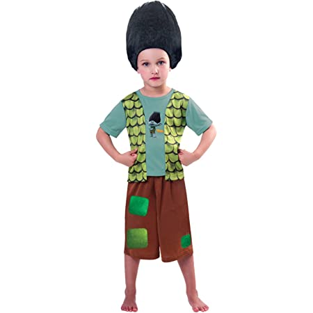 Official Trolls Film Branch Fancy Dress Costume Outfit Child Dress Up