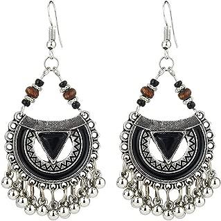 Sperrins Boho perles gland boucles d'oreilles pour les femmes émail géométrique métal dangle balancent bijoux de soirée parti