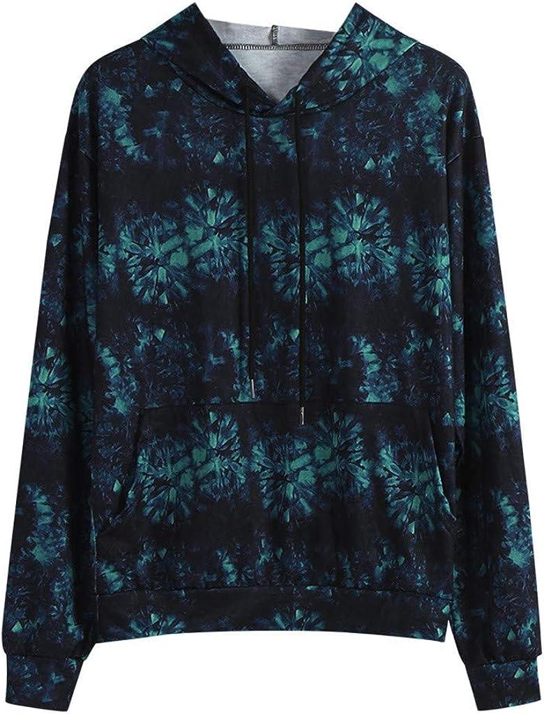 FORUU Hoodies for Men Plus Size,Fashion New Personality Men Autumn Winter Tie-dye Casual Pullover Hoodie Sweatshirt